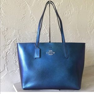 Coach Metallic Avenue Tote Hologram Leather